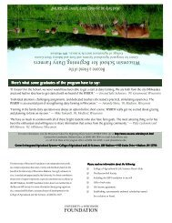 Wisconsin School for Beginning Dairy Farmers - Center for ...