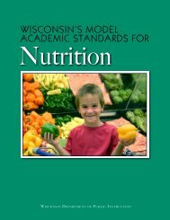 Wisconsin's Model Academic Standards for Nutrition