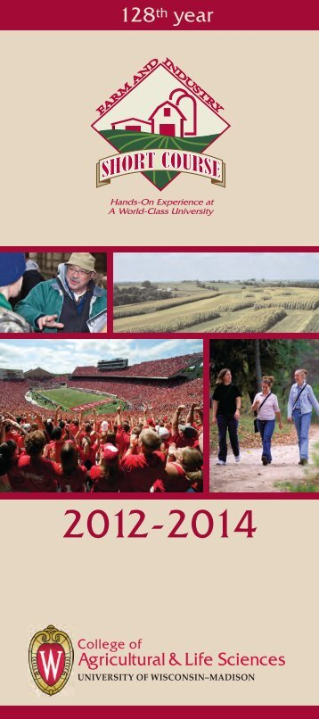 Short Course brochure - Center for Integrated Agricultural Systems