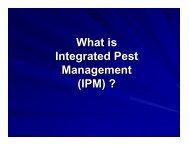 What is Integrated Pest Management (IPM) ?