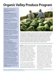 Organic Valley Produce Program - Center for Integrated Agricultural ...