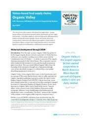Organic Valley - Center for Integrated Agricultural Systems