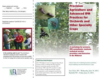 Precision Agriculture and Advanced IPM Practices - Center for ...