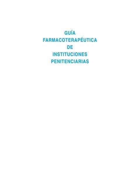 Gua A Farmacoterapa Utica De Instituciones
