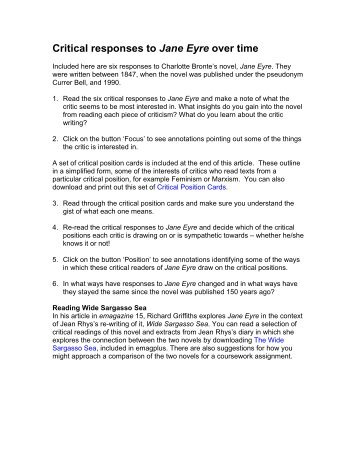 Jane Eyre Essay Thesis Examples How To Write A Thesis Statement Feminism In Jane  Eyre The