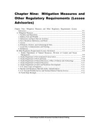 Mitigation Measures and Other Regulatory Requirements (Lessee ...