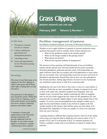 Grass Clippings - Center for Integrated Agricultural Systems
