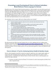 Model wellness policy language for schools - Center for Integrated ...