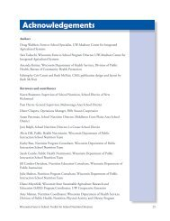 Acknowledgements - Center for Integrated Agricultural Systems