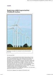 Regierung erhält Gegenwind bei Windkraft-Ausbau - BI Gegenwind ...