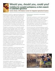 Read the full report - Center for Integrated Agricultural Systems