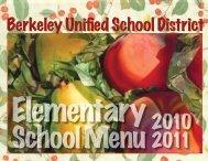 Tool: Berkeley Unified School District menu