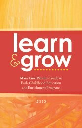 Main Line Parent's Guide to Early Childhood Education and ...