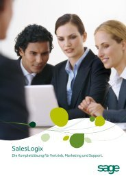 Sage SalesLogix Datenblatt - Reischer CRM Consultants GmbH
