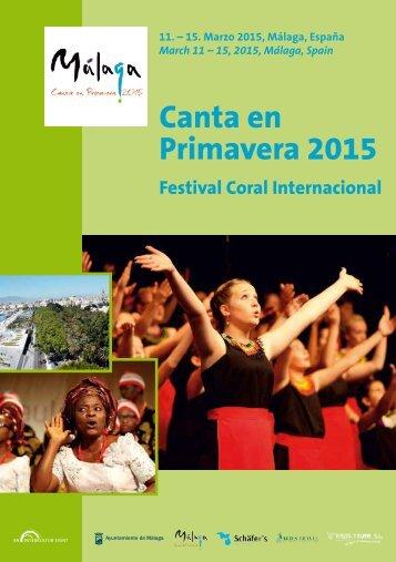 Canta en Primavera 2015 - Program Book
