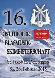16. Osttiroler WINWIN Blasmusikskimeisterschaft