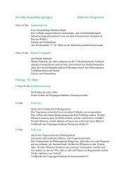 An allen Ausstellungstagen Rahmen Programm ... - Palmengarten