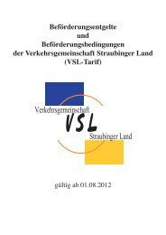 Tarifbestimmung VSL (PDF, 1.04MB) - Regionalbus Ostbayern GmbH