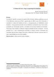 Crônicas de ferro e fogo: arqueologia da fundição - Nepam - Unicamp