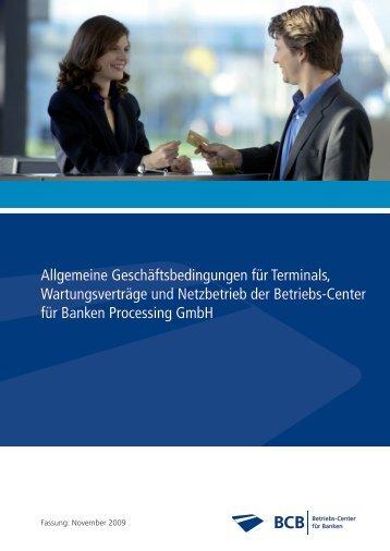 Allgemeine Geschäftsbedingungen für Terminals, Wartungsverträge ...