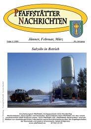 Jänner, Februar, März Salzsilo in Betrieb - Pfaffstätt
