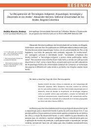 Arqueología, tecnología y Desarrollo en los ... - Nepam - Unicamp