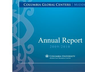 Annual Report - Columbia Global Centers - Columbia University