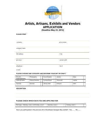Vendor-Exhibitor Registration Form - Southeast Georgian Bay ...