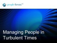 Managing People in Turbulent Times - The Financial Services Forum