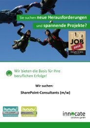 SharePoint-Consultants (m/w) - innocate solutions gmbh