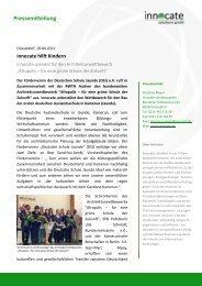 Pressemitteilung - innocate solutions gmbh