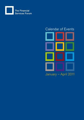 Calendar of Events - The Financial Services Forum