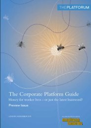 The Corporate Platform Guide - The Financial Services Forum