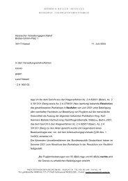 Hessischer Verwaltungsgerichtshof Brüder-Grimm-Platz 1 ... - IAGL