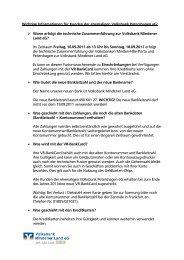 Wichtige Informationen für Kunden der ehemaligen Volksbank ...