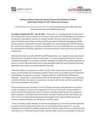 Softengine Deploys Virtustream xStream Enterprise ... - Softengine Inc.