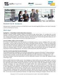Newsletter Vol 48 Spotlight - Softengine Inc.