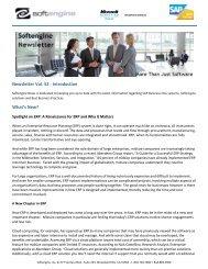 Newsletter Vol 52 Spotlight - Softengine Inc.