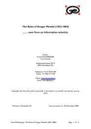 Rules of Gregor Mendel