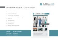 ANZEIGENPREISLISTE Nr. 2   Gültig ab 01.08.2012 - Clinical Jobs