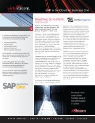 SAP Business One in the Cloud - Softengine