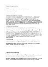 Softwareüberlassungsvertrag (EULA) - innocate solutions gmbh