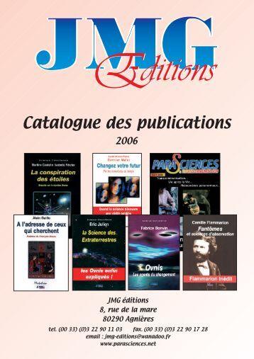 Catalogue JMG Editions 2006 - Parasciences