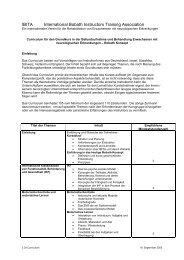 Core-curriculum Bobathkurs deutsche Übersetzung (PDF) - VeBID