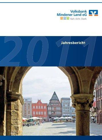 Jahresbericht 2011 der Volksbank Mindener Land eG