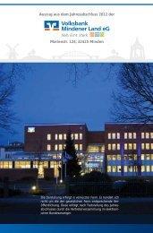 Auszug aus dem Jahresabschluss 2012 der Marienstr. 124, 32425 ...