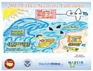 2013 Cyber Security Calendar - Multi-State Information Sharing and ...