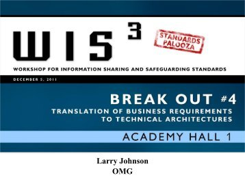 WIS3 Track 4 Outbrief - ISE.gov