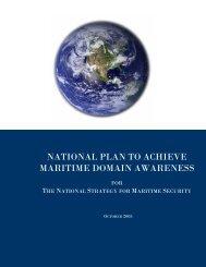 National Plan to Achieve Maritime Domain Awareness (2005)
