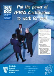 7649/IPMA Cert Broch IRE - Institute of Project Management of Ireland